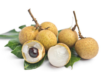 longan - fruit on white background