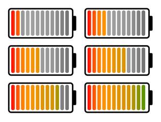 Battery level clip art