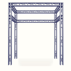 steel metal framework construction design project on white