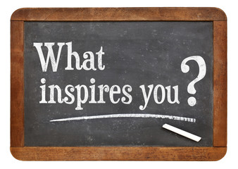 what inspires you question