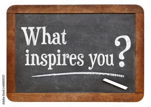 Fototapeta what inspires you question