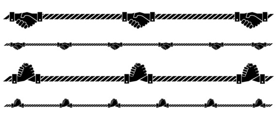 shake hands rope symbol on isolated backgroud