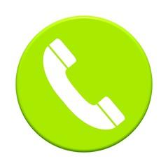 Button rund: Telefonhörer