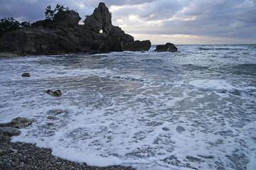 冬の日本海 曽々木海岸