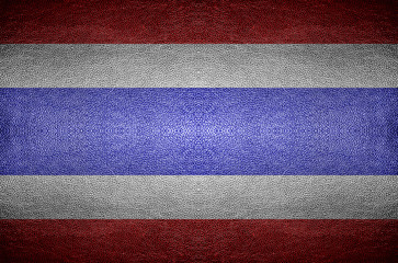 Thailand Flag on PVC leather background.