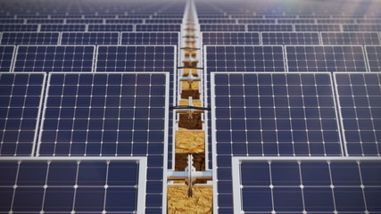 Solar panels. Loopable animation.