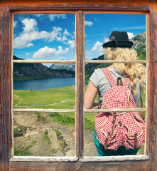 Fensterblick Tappenkarsee