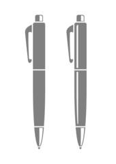 Grey ballpoint icon on white background