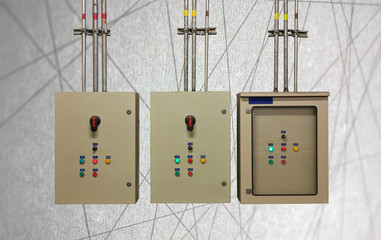 electric system in cabinet  building system abstract line backgr