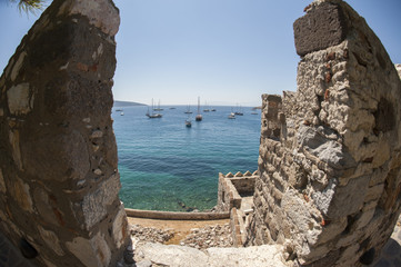 Bodrum Castle and Seascape of the with yachts