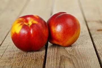 nectarines closeup