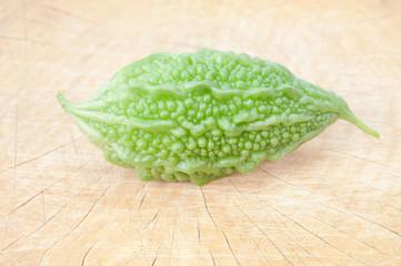 Close-up of vegetable bitter melon.