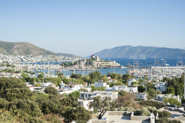 Bodrum Castle and Harbour in Turkey