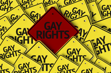 Gay Rights written on multiple road sign