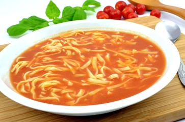 tomato soup with pasta