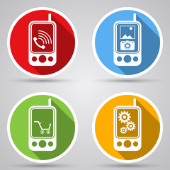 Mobile phones vector icon collection