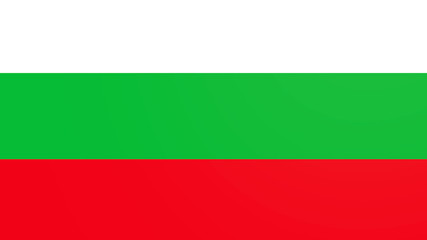 bulgaria national flag constructed from separated elements