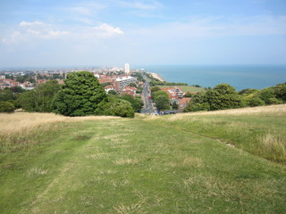 Eastbourne England from South Downs
