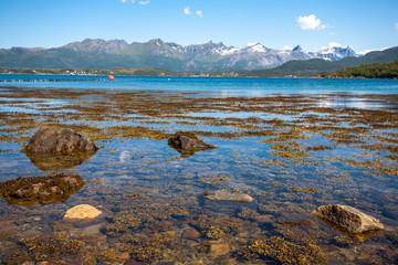 Fjord landscape.