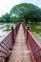 Foot bridge in Sukhothai Historical Park, Thailand