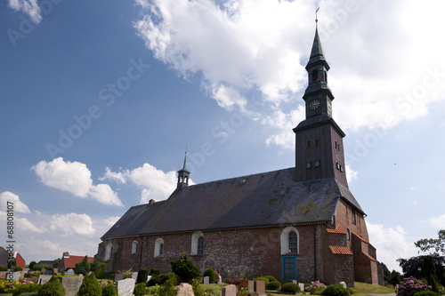 canvas print picture Church of Tating, Germany