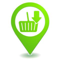 ajouter au panier sur symbole localisation vert