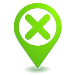 annulation sur symbole localisation vert