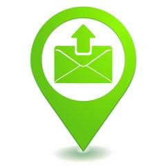 envoyer un message sur symbole localisation vert