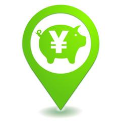 épargne yen sur symbole localisation vert