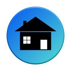 Button rund: Haus