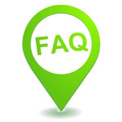 foire aux questions sur symbole localisation vert