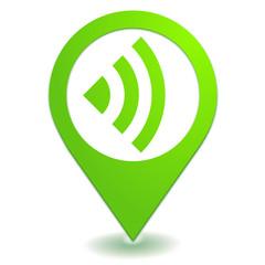 réseau sur symbole localisation vert