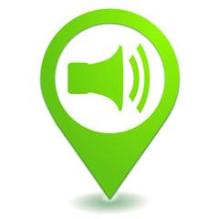 volume sur symbole localisation vert