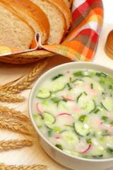 Cold vegetable soup - okroshka