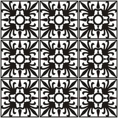 Ornament schwarz-weiß