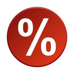 Button rund: Prozent
