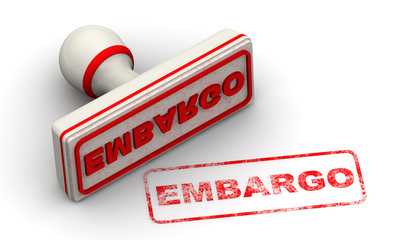 Embargo. Seal and imprint