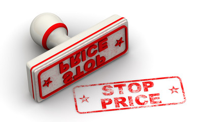 Stop price. Seal and imprint