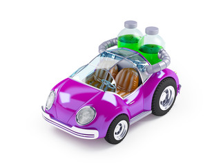 purple soda car