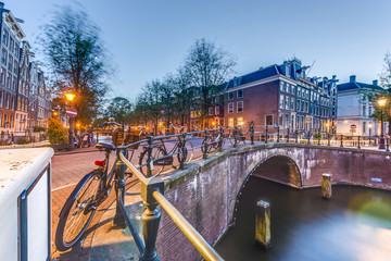 Keizersgracht canal in Amsterdam, Netherlands.