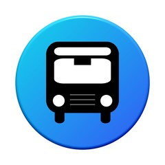 Button rund: Bus