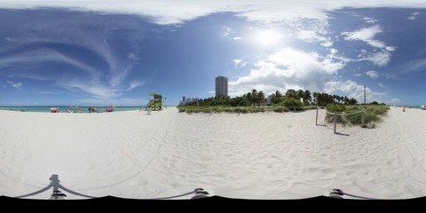 Miami Beach panorama for virtual tours