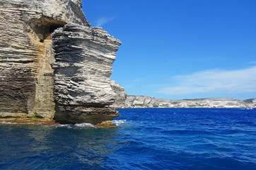 """Le rocher """"le gouvernail de la Corse"""" à Bonifacio au sud Corse"""