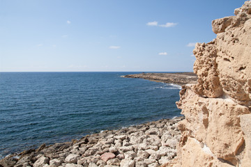 coast line of Cyprus near Pahpos (Cyprus)