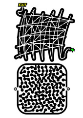 Black mazes