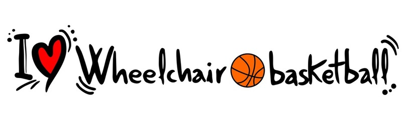 Wheelchari basketball love