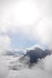 canvas print picture - Wolken an der Serles