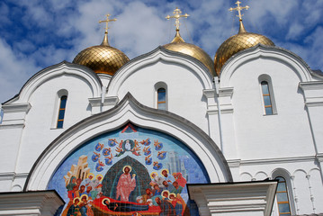 Assumption Church in Yaroslavl, Russia.