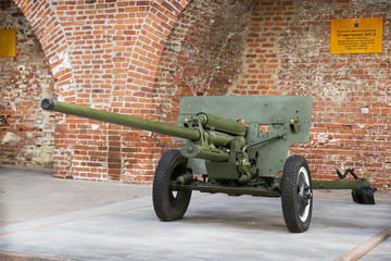 RUSSIA, NIZHNY NOVGOROD - AUG 06, 2014: Anti-57-mm gun ZIS-2