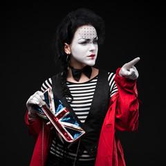 woman mime